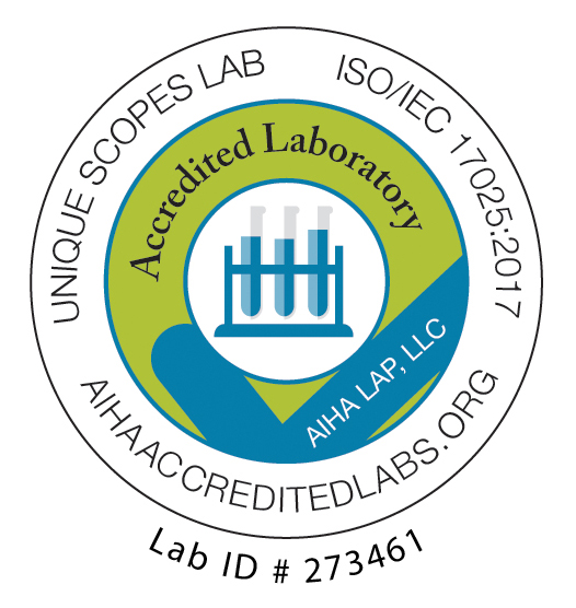AIHA-LAP LLC Unique Scopes Lab Accredited Laboratory Logo